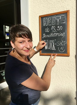 Handlettering Workshop im Creative Cafe 23.08.2017