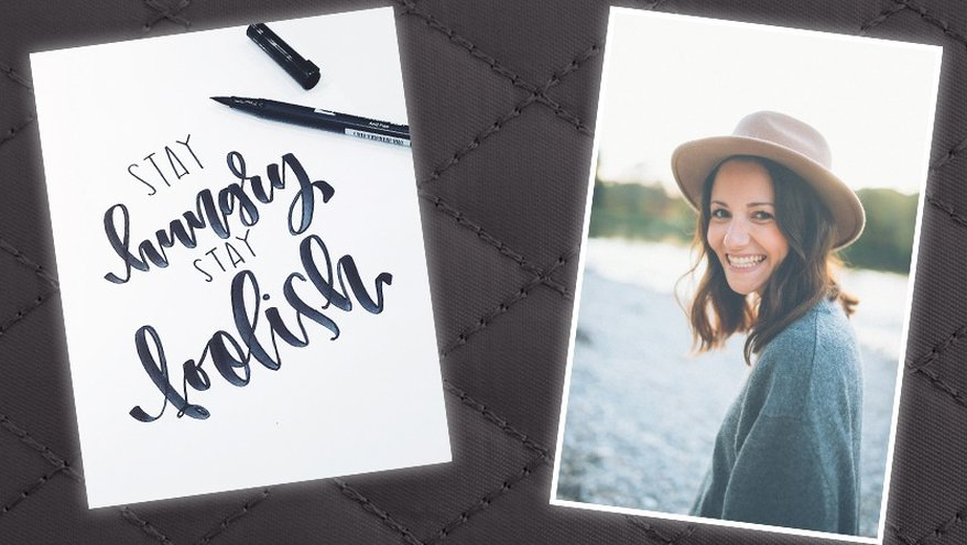 Interview Tanja Cappell, Frau Hölle, Lettering, Handlettering, Brush Lettering, Tombow, sty hungry, stay foolish